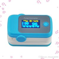Wholesale PO10004A59 with Pulse Sound Audio Alarm OLED Fingertip oxymeter spo2 PR monitor Blood Oxygen Pulse Oximeter Freeshipping blue