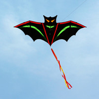 bamboo batting - high quality bat kite with handle line outdoor flying toy nylon ripstops kids kite surf octopus kite factory new