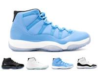Wholesale Cheap Lace Fabric For Sale - Retro 11s Cheap mens basketabll shoes sneaker for sale basket boots men athletic trainer sports gamma legend blue Retro X1 11 black white
