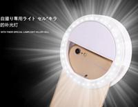 Cámara selfie aro de luz LED flash de relleno Fotografía Luz Lámpara flash tiro de la noche de luz para el iPhone Samsung brillo ajustable