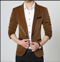 Wholesale Mens blazers new arrivals high quality corduroy single button unique mens blazers leisure suit brand blazers for men