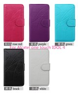 alcatel one touch phone - Leather flip phone case wallet case cover inside with credit card slots For Alcatel one touch IDOL