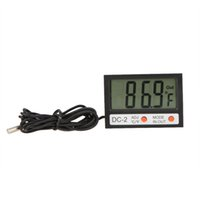Wholesale Electronic New Thermostat Tester Indoor Outdoor Mini LCD Digital Thermometer Temperature Meter Clock w Probe