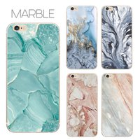 accessories for cell phone - hot sale cell phone case accessories marble printing soft flexible ultra thin TPU cover case for iphone