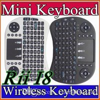 Wholesale NEW Wireless Keyboard rii i8 keyboards Fly Air Mouse Multi Media Remote Control Touchpad Handheld for TV BOX Android Mini PC B FS