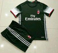 Wholesale Benwon AC Milan home soccer jersey ac away white short sleeve thai quality football set men s athletic sports tracksuit soccer kits