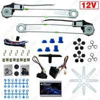 Window Regulator auto window regulators - Universal Front Doors Car Auto Electric Power Window Kits with Set Switches and Harness easy to install