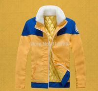 Cheap Wholesale-New Clothing Naruto Cosplay Thick Coat Characters Naruto Uzumaki Cosplay Costumes Halloween Jacket Hoody