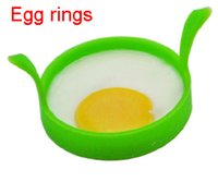 Wholesale Silicone Fried Frier Oven Poacher Pancake Egg Poach Ring Mould Egg Kitchen Tool DHL