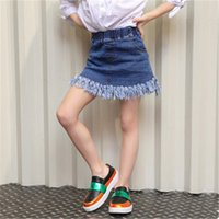 Wholesale 2016 spring and summer new style girls denim skirt children children skirt baby fashion cute denim skirts