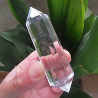 angels plants - 12 sides High Quality Natural Clear Quartz Crystal Vogle Double Terminated Points Wands Healing g g