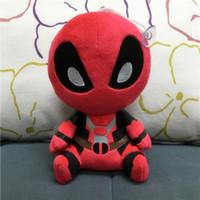 achat en gros de x men peluche-Avec Balises 2016 Q Version 20cm X-men Deadpool film d'action figure jouets en peluche gros Livraison gratuite
