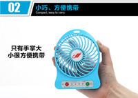 battery powered computer fan - 2016 Summer Needed Cooling Fan Portable Mini USB Fan Rechargeable Battery Desk Mini Fan Charge with Power Bank Computer