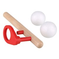 Wholesale Wooden Blowing Balance Folating Ball Game Flute Shape Blow Kid Children s Toy
