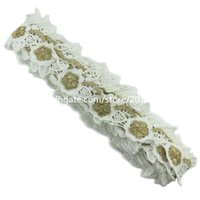 Wholesale 1 Meter Bridal Appliques White Lace Embroidered Leaf Flower mm Trims Sewing