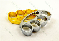 Wholesale 20pcs Knuckle duster belt buckle F S THICK CHROMED KIRSITE BRASS KNUCKLES DUSTERS Boxing Protective Gear DHL