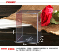 Wholesale 100PCS X X CM Clear PVC Candy Boxes Wedding Favor Box Baby Shower Bridal Shower Sweet Gift Box Display