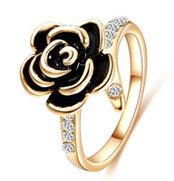Wholesale Mavis Ornament Hot Sale Gold Rings Fashion Jewelry New Women s Party K Gold Plating Enamel Flower Ring High Quality