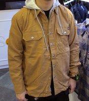 Wholesale Men s Autumn Winter Jacket fashion casual thin Cotton Hooded Shirt Jacket outdoors mens windbreaker outwear Plus Size L XL XXL