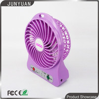Wholesale Hot F188A sweet Portable Mini USB Fan Rechargeable Battery Operated w LED Lamp for Indoor Outdoor Kids Table Mini Fan