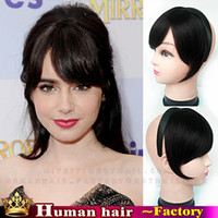 Wholesale Frange bangs Human Real Hair extension Clip in on side Front Fringe Headbands For Women Tilted frisette Sexy formula Remy hair