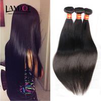 Wholesale Brazilian Peruvian Indian Cambodian Malaysian Human Hair Weaves Straight Bundles Double Weft Cheap Soft Brazillian Hair Extensions