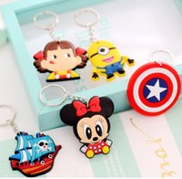 big finder - Phone Accessories Cartoon Rings Trinket Soft PVC Keychain Minions Marines Key Holder Key Chains Finder Toys Souvenirs Gift