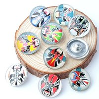 beijing mix - 10pcs Beijing Opera mm Button Ginger Snap Charms Jewelry Interchangeable Jewerly Charms Pendants Necklace Mixes Charms