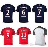 Wholesale Thailand Quality Paris Saint Germain PSG Soccer Uniform Football Jerseys IBRAHIMOVIC CAVANI DI MARIA T SILVA LAVEZZI