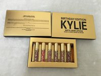 Wholesale Kylie Birthday Edition birthday gifts lip gloss enamel package one box DHL