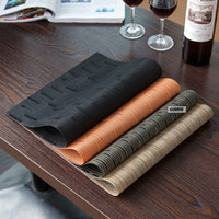 Wholesale Black and gold PVC table mat table heat insulation cup mat Household commodities mixed batch of restaurant