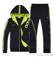 Wholesale 2016 spring and autumn men sport suit adult early morning runs cotton blend men tracksuits adult clothing coat and pant size L XL
