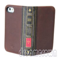 hard cover book - 2016 New style Genuine leather hard Case for apple iphone book wallet slim cover