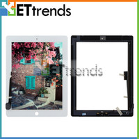 apple ipad install - For iPad Touch Screen Digitizer Assembly with Home Button and M Adhesive Installed Black White Good Quality Test One by One AA0071
