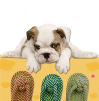 Wholesale Candy color cotton rope flip flops Pets dogs pet supplies Pet Dog Puppy Cotton Chew Knot Toy CM Funny Tool