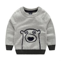 Wholesale Hot Children Pullover Sweater Kids Fashion Tops Baby Cotton Sweater Knitted Outerwear Cartoon Print Car Print High Quality