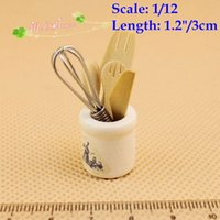 Wholesale 1 Dollhouse Miniature Kitchenware Whisk Knife Fork Spoon pieces