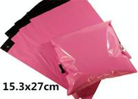 Wholesale 153x270mm100PCS Pink Color Envelope mailing bag Courier Mailer Express Bag