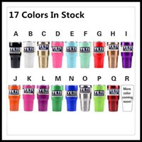 Wholesale 17 Colors Yeti Coolers Rambler Tumblers oz Colorful Cup Gold White Black Purple Bronze Lime Green Royal Blue Yeti Mugs In Stock