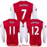 arsenal long sleeve - Whosales Arsenals jersey Alexis Sanchez Soccer Jerseys Football Shirt Ozil Long sleeve Walcott Welbeck Giroud Free Shippinng Thai