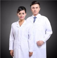 medical scrubs - New Mens Womens White Lab Coat Scrub Medical Doctor s Jacket Brand New Good Quality Free Shippin