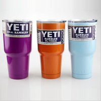 Wholesale 2016 new Brand oz Yeti Cup Cooler yeti Rambler Tumbler cup Colorful cooler cup oz Powder Coated Mugs With Lid