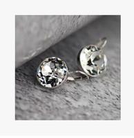 american discount store - 2016New Fashion earring Swarovskielement silver crystal earrings Diamond stud earrings New store discounts factory price
