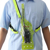 Wholesale Universal Grass green Waterproof Sets Holster for Walkie Talkie Ham Radio Hf Transceiver Portable J6287G Fshow