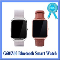 apple watch live - G60 Z60 Smart Watch Sedntray Remind Anti Lost Bluetooth Pedometer Imformation Function Music Play Living water Proof GPS VS GT08 DZ09