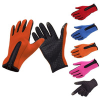 Wholesale Windstopper Outdoor Sports Skiing Riding Cycling Bike Gloves Men Women Windproof Winter Thermal Warm Touch Screen Gloves