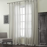Wholesale Classic Cotton Linen Blend Stripe Jacquard Sheer Curtains Double Pleated Top With Custom Multi Size