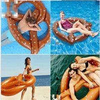 Wholesale Inflatable Pool Toy Donut Shape Float Raft Swim Gigantic Circle Ring