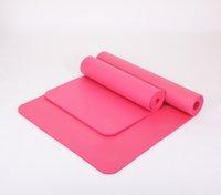 Wholesale 10mm Thick NBR Yoga Mat Beginners Fitness Mat Yoga Mat Flexible Non slip Exercise Pad CM Environmental