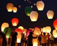 Coeur Sky Lanternes Souhaitant <b>Lantern</b> Feu Ballon chinoise Kongming Lanterne Souhaitant Lampe éclairage extérieur Livraison gratuite